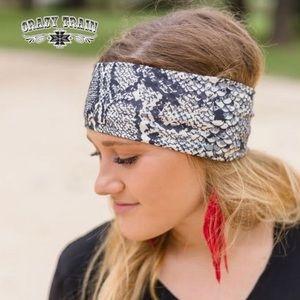 Hissie Fit Python Headband. Snakeskin Headband.